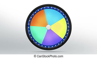black fortune wheel of 5 area blue 4K - 3D Illustration of...
