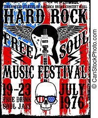 Hard Rock Music Poster
