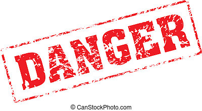 danger - Grungy ink stamp, vector format very easy to edit