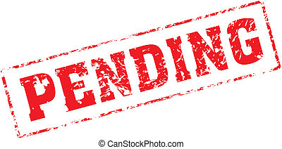 pending - Grungy ink stamp, vector format very easy to edit