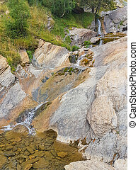 Small brook in the mounts of the pyrenees