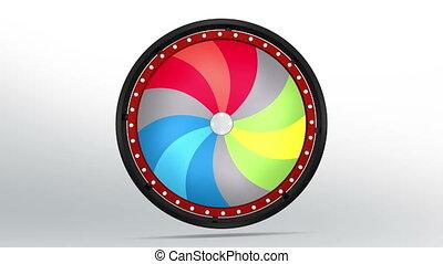 black fortune wheel of 12 area twirl 4K