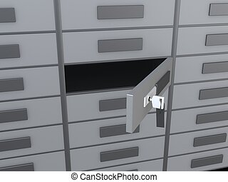 lockers  - 3d rendered illustration of many small lockers