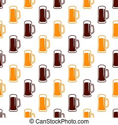 Seamless beer pattern - Vector seamless beer pattern. Drink...