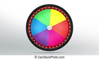 black fortune wheel of 6 area 4K - 3D Illustration of lucky...