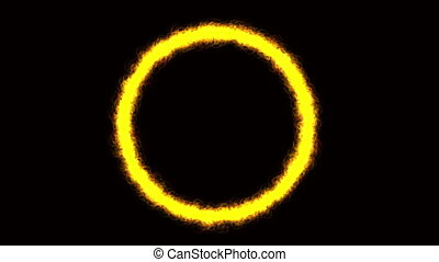 Colorful circle on black background