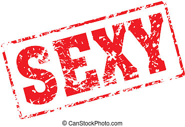 sexy - Grungy ink stamp, vector format very easy to edit