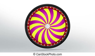 Fortune wheel of candy style - 3D Illustration of lucky spin...