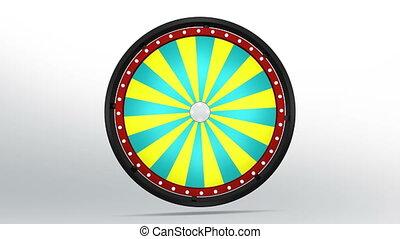 black fortune wheel of 24 area 4K - 3D Illustration of lucky...