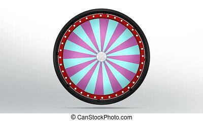 black fortune wheel of 24 area purple blue 4K - 3D...