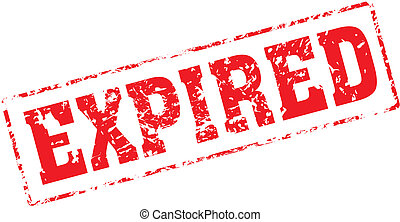 expired - Grungy ink stamp, vector format very easy to edit