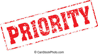 priority - Grungy ink stamp, vector format very easy to edit