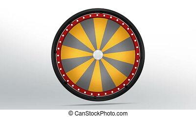 black fortune wheel of 24 area orange 4K - 3D Illustration...