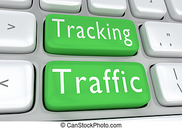 Tracking Traffic concept