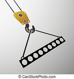industrial hook. Stock illustration. - Icon of industrial...