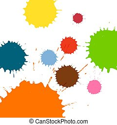Multicolored blots and splashes