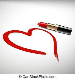 lipstick. Stock illustration.