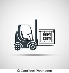 logo forklifts with compartment. - logo of the forklifts...
