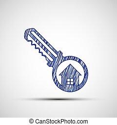 Logo key from the door.