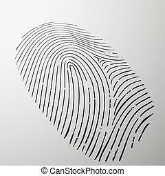Fingerprint human. Stock illustration. - Fingerprint human...