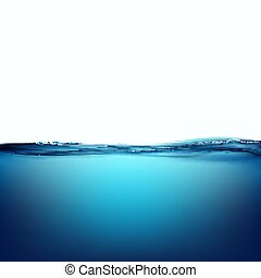 Water surface. Stock illustration. - Water surface isolated...