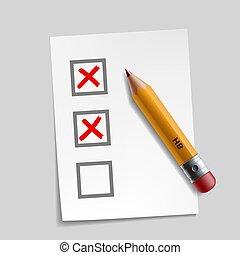 customer survey check mark
