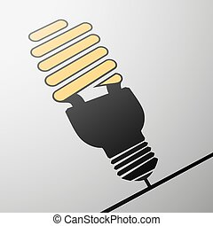 energy saving lamp - Emblem of energy saving lamps. Stock...