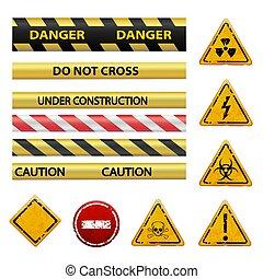 warning signs. Stock illustration.