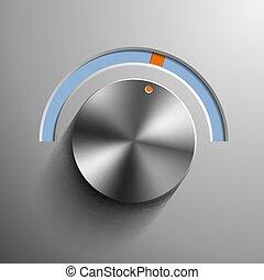 Round metal regulator.