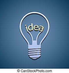 Light bulb with the word idea.