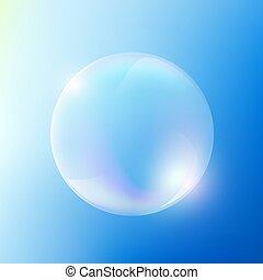 Soap bubble. Stock illustration. - Soap bubble against the...