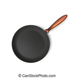 Frying pan isolated on white background.