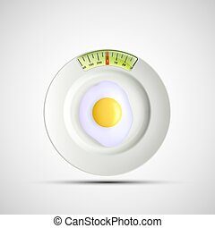 White plate. Stock illustration. - White plate in the form...