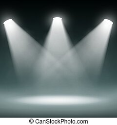 Dark room. Stock illustration. - Dark room illuminated by...