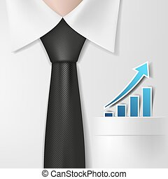 profit growth. Stock illustration.