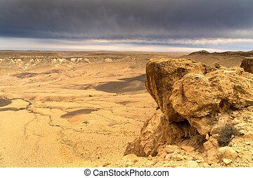 Arava desert travel in Israel at evening - Hiking in mideast...