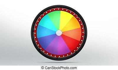 black fortune wheel of 10 area 4K - 3D Illustration of lucky...