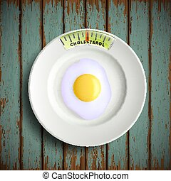 scrambled eggs. Stock illustration. - Plate with scrambled...