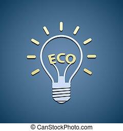 Icon bulb. Ecological symbol.