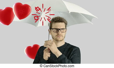 Human person man who do not like hate valentine day love...
