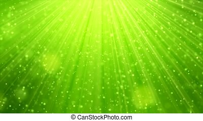 spring motion background - Natural light particles green...