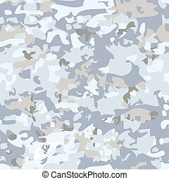 White camouflage pattern. - White Seamless military...