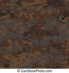 Seamless camouflage pattern. - Seamless military brown...