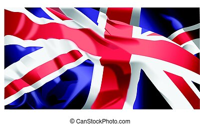 British Flag waving - Waving flag of England background