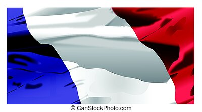 France Flag waving - Waving flag of Francaise background