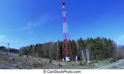 Retransmission cell tower - On the edge of the forest...