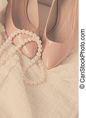 Female accessories on white - Female fashion accessories...