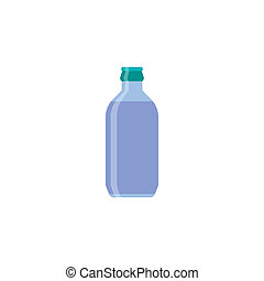 Bottle. Graphic illustration - Water blue bottle isolated on...