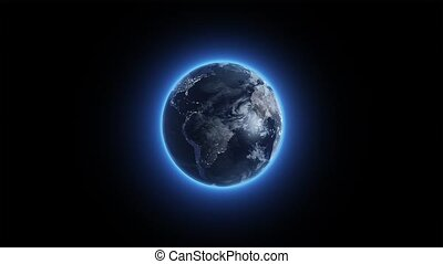 Twirling glowing Earth watch HD
