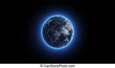 Twirling glowing Earth watch HD